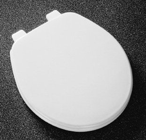 Church Seats 540EC Regular Closed Front with Cover Round Toilet Seat 062 - Ice Grey (Picture shown in White)