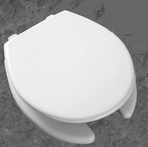 Bemis Seats 7750TDG Round Seat Open Front with Cover - 000 White