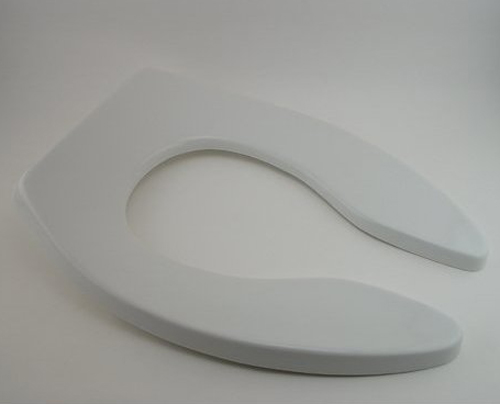 Church Seats 9500SSCT Elongated Open Front Plastic Toilet Seat Less Cover with Self-Sustaining Hinge - White