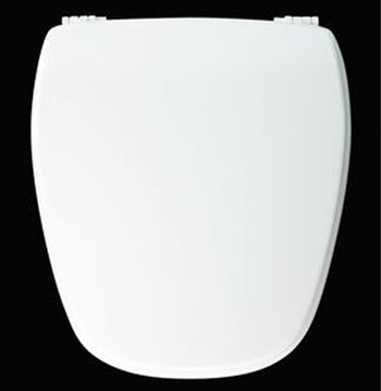 Church Seats NW209-E10 Regular Closed Front with Cover Round Toilet Seat 000 - White