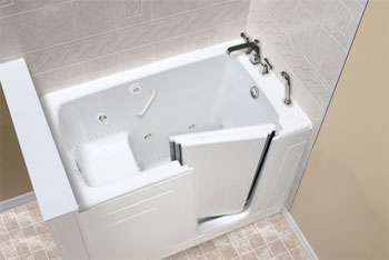 Clarke A3260D-W 60 inch  x 32 inch  x 33 inch  Air Massage Bath Low Treshold Walk-In Bath Tub - White