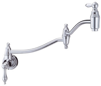 Danze D205040 Fairmont Double Handle Wall-Mount Pot Filler - Chrome