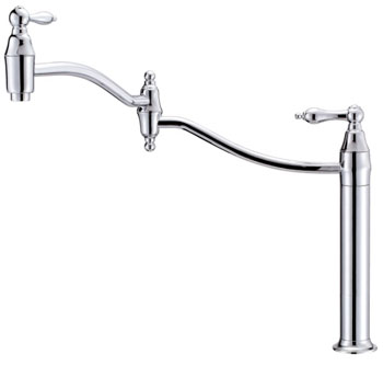 Danze D206540 Fairmont Double Handle Deck Mount Pot Filler - Chrome