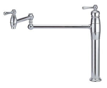 Danze D206557 Opulence Double Handle Deck Mount Pot Filler - Chrome