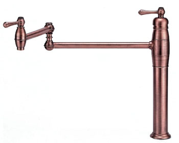 Danze D206557AC Opulence Double Handle Deck Mount Pot Filler - Antique Copper