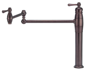 Danze D206557RB Opulence Double Handle Deck Mount Pot Filler - Oil Rubbed Bronze
