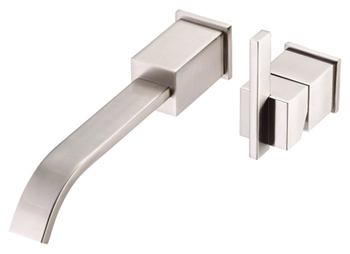 Danze D216044BN Sirius Single Handle Wall Mount Faucet Brushed Nickel