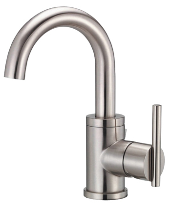 Danze D221558BN Parma Single Handle Lavatory Faucet with High Rise Spout Brushed Nickel