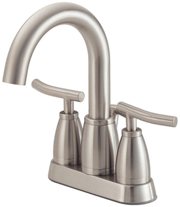 Danze D301054BN Sonora Two Handle Centerset Lavatory Faucet Brushed Nickel