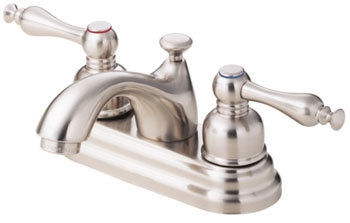 Danze D301055BN Sheridan Two Handle Centerset Lavatory Faucet Brushed Nickel