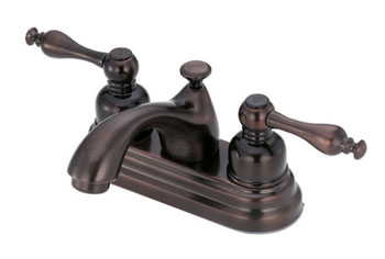 Danze D301055RB Sheridan Two Handle Centerset Lavatory Faucet Oil Rubbed Bronze