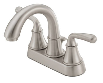 Danze D301056BN Bannockburn Two Handle Centerset Lavatory Faucet Brushed Nickel