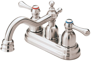 Danze D301057BN Opulence Two Handle Centerset Lavatory Faucet Brushed Nickel