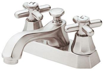 Danze D301066BN Brandywood Two Cross Handle Centerset Lavatory Faucet Brushed Nickel
