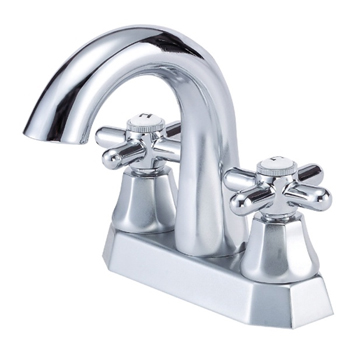 Danze D301266 Brandywood Two Cross Handle Centerset Lavatory Faucet with High-Rise Spout Chrome