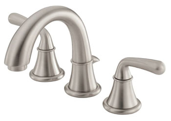 Danze D303056BN Bannockburn Two Handle Mini-Widespread Lavatory Faucet Brushed Nickel