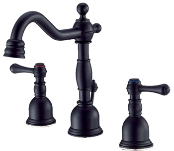 Danze D303057BS Opulence Two Handle Mini-Widespread Lavatory Faucet Satin Black