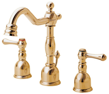 Danze D303057PBV Opulence Two Handle Mini-Widespread Lavatory Faucet Polished Brass