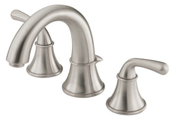 Danze D304056BN Bannockburn Two Handle Widespread Lavatory Faucet Brushed Nickel