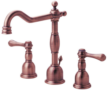 Danze D304057AC Opulence Two Handle Widespread Lavatory Faucet Antique Copper
