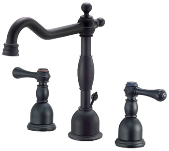 Danze D304057BS Opulence Two Handle Widespread Lavatory Faucet Satin Black