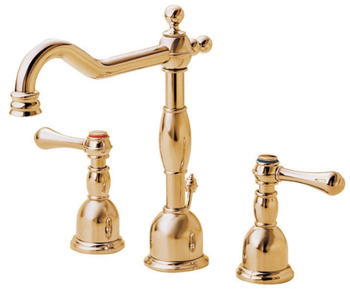 Danze D304057PBV Opulence Two Handle Widespread Lavatory Faucet Polished Brass