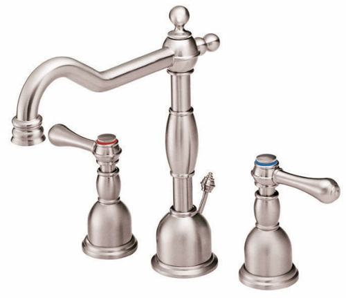 Danze D304057PNV Opulence Two Handle Widespread Lavatory Faucet Polished Nickel