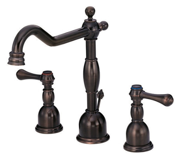 Danze D304057RB Opulence Two Handle Widespread Lavatory Faucet Oil Rubbed Bronze