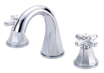 Danze D304266 Brandywood Two Cross Handle Widespread Lavatory Faucet with High-Rise Spout Chrome