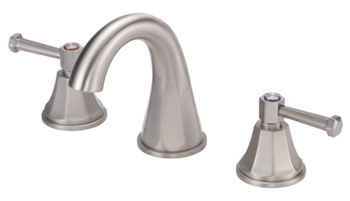 Danze D304268BN Brandywood Two Lever Handle Widespread Lavatory Faucet with High-Rise Spout Brushed Nickel