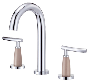Danze D304554CSN Sonora Trim Line Two Handle Widespread Lavatory Faucet Chrome with Satin Nickel Accents