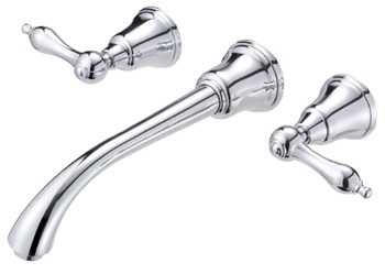 Danze D316240 Fairmont Two Handle Wall-Mount Lavatory Faucet Chrome