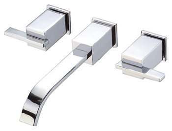 Danze D316244BNT Sirius Two Handle Wall Mount Lavatory Faucet Trim Brushed Nickel
