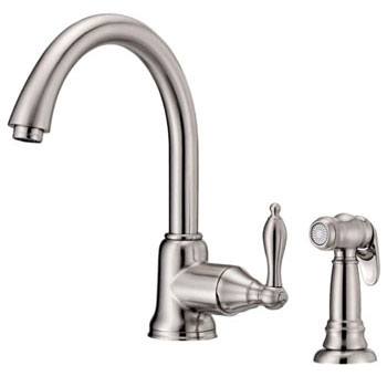 Danze D401540SS Fairmont Single Handle Kitchen Faucet with Matching Spray Stainless Steel