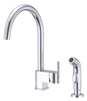 Danze D401542 Como Single Handle Kitchen Faucet with Sidespray Chrome