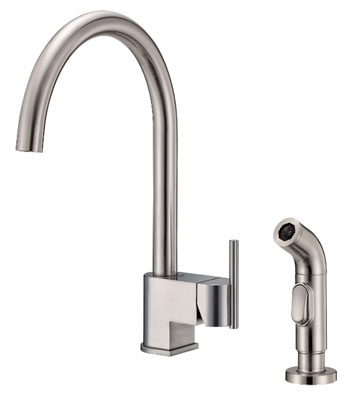 Danze D401542SS Como Single Handle Kitchen Faucet with Sidespray Stainless Steel