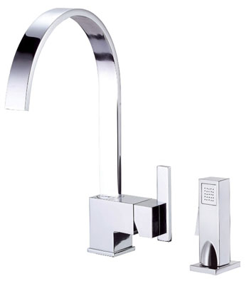 Danze D401544 Sirius Single Handle Kitchen Faucet with Sidespray Chrome