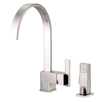 Danze D401544SS Sirius Single Handle Kitchen Faucet with Sidespray Stainless Steel