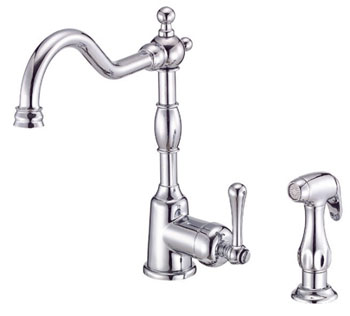 Danze D401557 Opulence Single Handle Kitchen Faucet with Sidespray Chrome