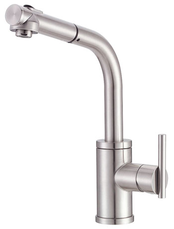 Danze D404558SS Parma Single Handle Pull Out Kitchen Faucet   Stainless  Steel