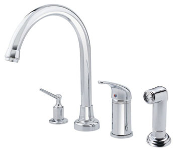 Danze D409012 Melrose High-Rise Kitchen Faucet with Spray - Chrome