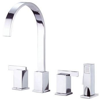 Danze D422044 Sirius Two Handle Kitchen Faucet with Sidespray Chrome