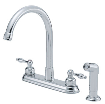 Danze D422055 Sheridan Two Handle Hi-Rise Kitchen Faucet with Spray Chrome