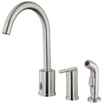 Danze D423058SS Parma Single Handle Dual Function Kitchen Faucet with Sidespray Stainless Steel