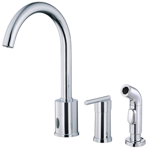 Danze D423058 Parma Single Handle Dual Function Kitchen Faucet with Sidespray Chrome