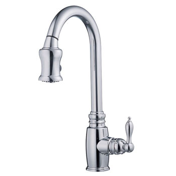 danze d454557 opulence single handle pull-down kitchen faucet
