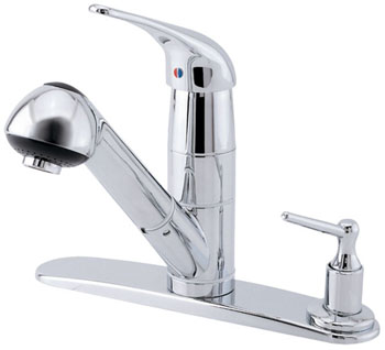 Danze D455612 Melrose Classic Single Handle Pull-Out Kitchen Faucet - Chrome