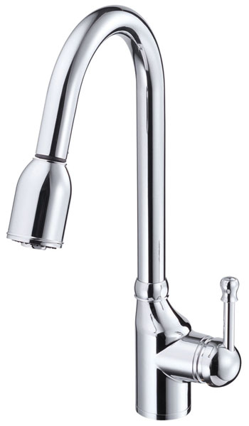 Danze D457015 Melrose Single Handle Pull-Down Kitchen Faucet - Chrome