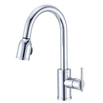 Danze D457058 Parma Single Handle Pull-Down Kitchen Faucet - Chrome