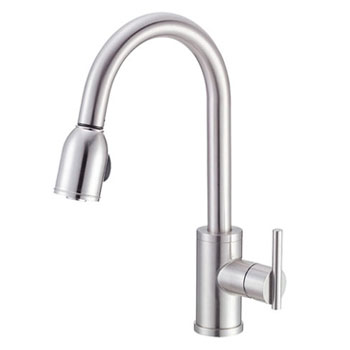 Danze D457058SS Parma Single Handle Pull-Down Kitchen Faucet - Stainless Steel